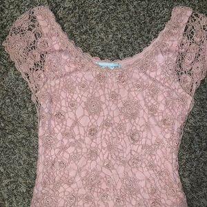 Mauve lace blouse